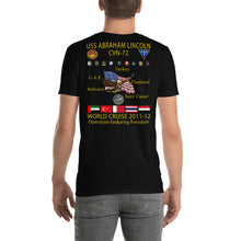 Load image into Gallery viewer, USS Abraham Lincoln (CVN-72) 2011-12 Cruise Shirt