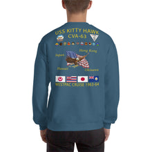 Load image into Gallery viewer, USS Kitty Hawk (CVA-63) 1963-64 Cruise Sweatshirt