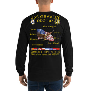 USS Gravely (DDG-107) 2015-16 Long Sleeve Cruise Shirt