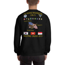 Load image into Gallery viewer, USS George Washington (CVN-73) 2013 Cruise Sweatshirt