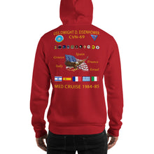 Load image into Gallery viewer, USS Dwight D. Eisenhower (CVN-69) 1984-85 Cruise Hoodie