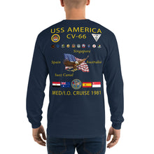 Load image into Gallery viewer, USS America (CV-66) 1981 Long Sleeve Cruise Shirt