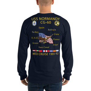 USS Normandy (CG-60) 1991-92 Long Sleeve Cruise Shirt
