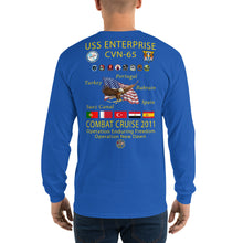 Load image into Gallery viewer, USS Enterprise (CVN-65) 2011 Long Sleeve Cruise Shirt