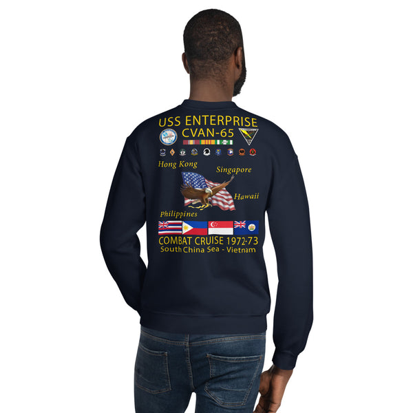 USS Enterprise (CVAN-65) 1972-73 Cruise Sweatshirt
