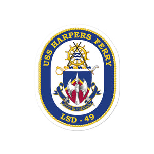 USS Harpers Ferry (LSD-49) Ship's Crest Vinyl Sticker