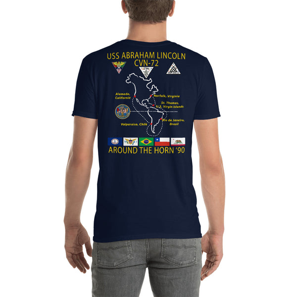USS Abraham Lincoln (CVN-72) 1990 Around The Horn Cruise Shirt