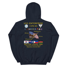 Load image into Gallery viewer, USS Enterprise (CVN-65) 1988 Cruise Hoodie