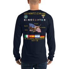 Load image into Gallery viewer, USS Nimitz (CVN-68) 1977-78 Long Sleeve Cruise Shirt