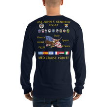 Load image into Gallery viewer, USS John F. Kennedy (CV-67) 1980-81 Long Sleeve Cruise Shirt