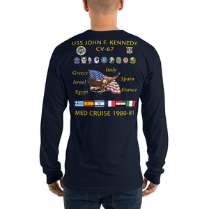 USS John F. Kennedy (CV-67) 1980-81 Long Sleeve Cruise Shirt