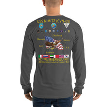 Load image into Gallery viewer, USS Nimitz (CVN-68) 2013 Long Sleeve Cruise Shirt
