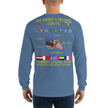 Load image into Gallery viewer, USS Harry S. Truman (CVN-75) 2010 Long Sleeve Cruise Shirt