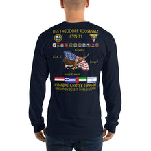 Load image into Gallery viewer, USS Theodore Roosevelt (CVN-71) 1990-91 Long Sleeve Cruise Shirt