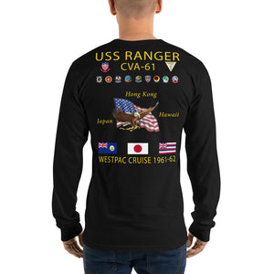 USS Ranger (CVA-61) 1961-62 Long Sleeve Cruise Shirt