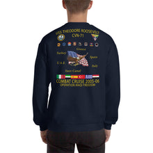 Load image into Gallery viewer, USS Theodore Roosevelt (CVN-71) 2005-06 Cruise Sweatshirt