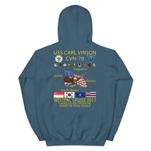 Load image into Gallery viewer, USS Carl Vinson (CVN-70) 2017 Cruise Hoodie