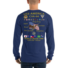 Load image into Gallery viewer, USS America (CVA-66) 1968 Cruise Shirt Long Sleeve Cruise Shirt
