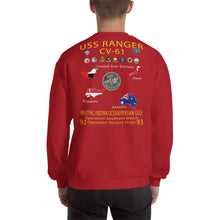 Load image into Gallery viewer, USS Ranger (CV-61) 1992-93 Cruise Sweatshirt - Map