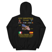 Load image into Gallery viewer, USS Saratoga (CV-60) 1994 Cruise Hoodie