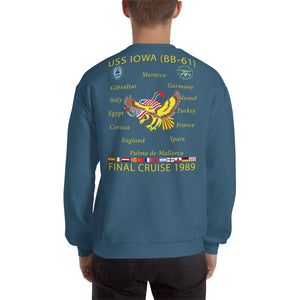 USS Iowa (BB-61) 1989 Cruise Sweatshirt