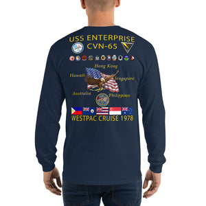 USS Enterprise (CVN-65) 1978 Long Sleeve Cruise Shirt