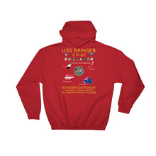 Load image into Gallery viewer, USS Ranger (CV-61) 1992-93 Cruise Hoodie - Map