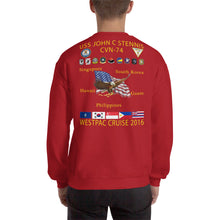 Load image into Gallery viewer, USS John C. Stennis (CVN-74) 2016 Cruise Sweatshirt