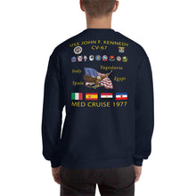 Load image into Gallery viewer, USS John F. Kennedy (CV-67) 1977 Cruise Sweatshirt