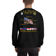 Load image into Gallery viewer, USS Halsey (DDG-97) 2014-15 Cruise Sweatshirt