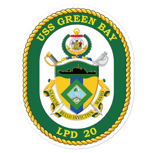 USS Green Bay (LPD-20) Ship's Crest Vinyl Sticker
