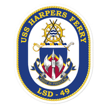 Load image into Gallery viewer, USS Harpers Ferry (LSD-49) Ship's Crest Vinyl Sticker