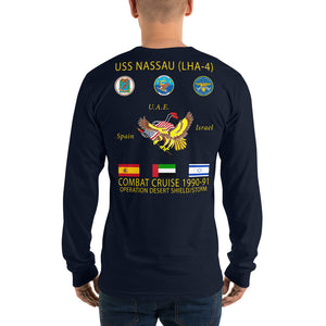 USS Nassau (LHA-4) 1990-91 Long Sleeve Cruise Shirt