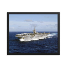 Load image into Gallery viewer, USS Abraham Lincoln (CVN-72) Framed Ship Photo