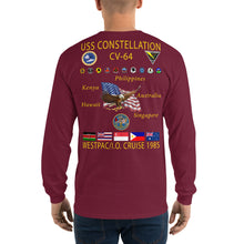 Load image into Gallery viewer, USS Constellation (CV-64) 1985 Long Sleeve Cruise Shirt