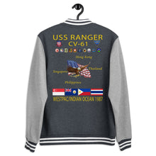 Load image into Gallery viewer, USS Ranger (CV-61) 1987 Letterman Style Cruise Jacket