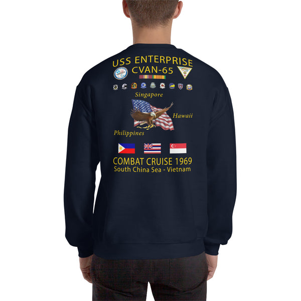 USS Enterprise (CVAN-65) 1969 Cruise Sweatshirt