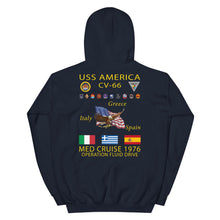 Load image into Gallery viewer, USS America (CV-66) 1976 Cruise Hoodie