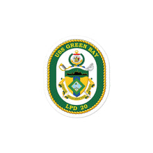 Load image into Gallery viewer, USS Green Bay (LPD-20) Ship's Crest Vinyl Sticker