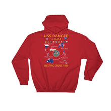 Load image into Gallery viewer, USS Ranger (CV-61) 1989 Cruise Hoodie - Map