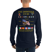 Load image into Gallery viewer, USS Saratoga (CV-60) 1992 Long Sleeve Cruise Shirt
