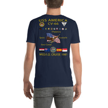 Load image into Gallery viewer, USS America (CV-66) 1981 Cruise Shirt