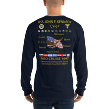 Load image into Gallery viewer, USS John F. Kennedy (CV-67) 1997 Long Sleeve Cruise Shirt