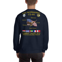 Load image into Gallery viewer, USS Normandy (CG-60) 2010 Cruise Sweatshirt