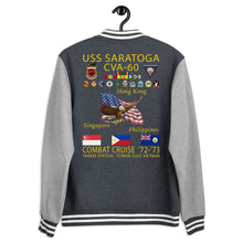 Load image into Gallery viewer, USS Saratoga (CVA-60) 1972-73 Letterman Style Cruise Jacket