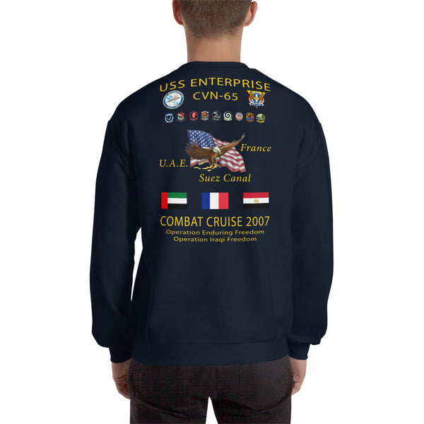 USS Enterprise (CVN-65) 2007 Cruise Sweatshirt