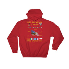 Load image into Gallery viewer, USS Saratoga (CVA-60) 1958 Cruise Hoodie