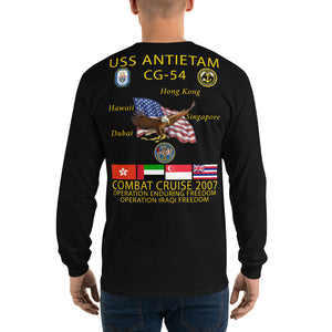 USS Antietam (CG-54) 2007 Long Sleeve Cruise Shirt