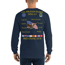 Load image into Gallery viewer, USS Arleigh Burke (DDG-51) 2018  Long Sleeve Cruise Shirt