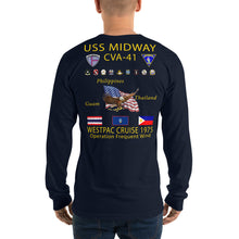 Load image into Gallery viewer, USS Midway (CVA-41) 1975 Long Sleeve Cruise Shirt